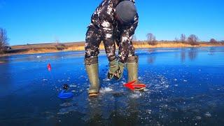 Ловля на жерлицы зимой ДУПЛЕТ НА ЖЕРЛИЦЕ подводная съемка