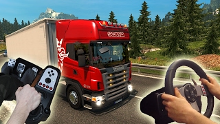 ★Scania R2008 - Euro Truck Simulator 2 with Logitech G27 | Wheel/feet camera #13