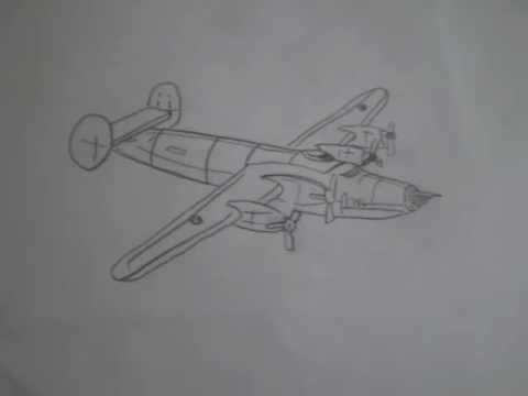 Ww2 American Bomber Planes Drawing