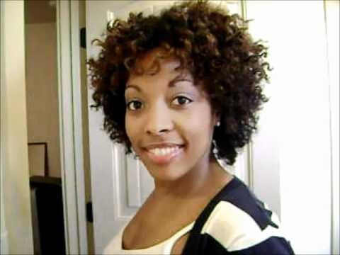 how to style curly afro hair curly afro tutorial 3477