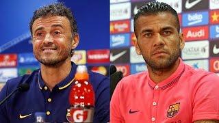 FC Barcelona - AS Roma: Rueda de prensa de Dani Alves y Luis Enrique