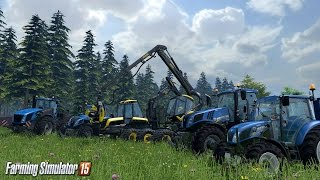 Farming Simulator 2015 (PS4) - FARM DIARY DAY 5 - TREE FELLING CONTINUES