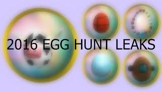 ROBLOX 2016 Egg Hunt Eggventure leaked eggs