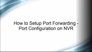 how to setup port forwarding for hikvision nvr