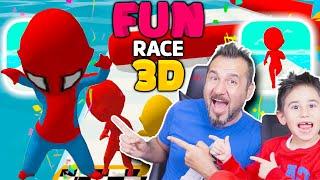 HORON TEPEN SPIDERMAN SURVIVOR PARKURUNDA! | EGEMEN KAAN İLE FUN RACE 3D OYNUYORUZ
