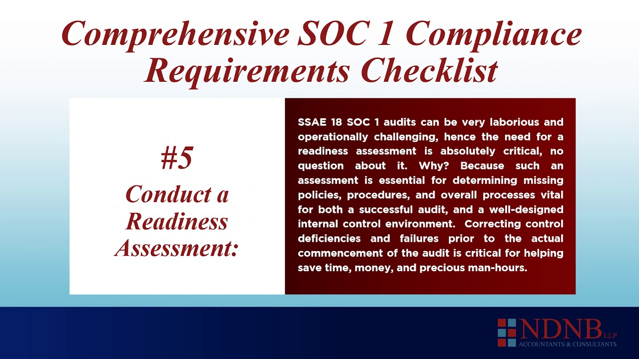 SOC 1 SSAE 18 Checklist