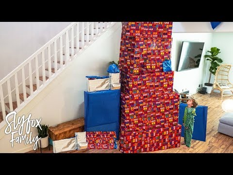 HUGE TOWER OF GIFTS 🎂 Caspian's 6th Birthday Special Morning Present Opening! 🎁 | Slyfox Family