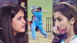 Last Ball Needs 4 Runs To Win. Tensed Moments for Huma Qureshi and Genelia Deshmukh