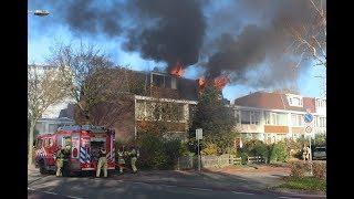 [Brandstichting!!] Uitslaande brand verwoest zolder woonzorgcentrum Amstelveen.