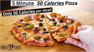 ONLY 50 Calories PIZZA ! LOW CALORIE PIZZA RECIPE  50 cal per slice!