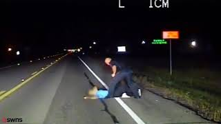 Heavily Intoxicated Woman Takes a Nap on the Road