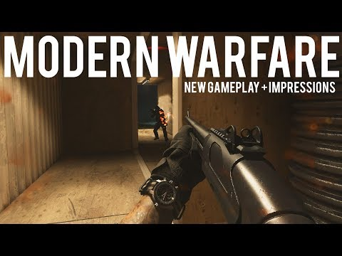 Modern Warfare NEW Gameplay + Hands on Impressions