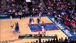 Dirk Nowitzki fadeaway bank shot vs Philadelphia 76ers