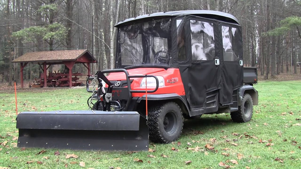 Kubota Rtv Curtis Plow V4208 4-way Hydraulic Conversion