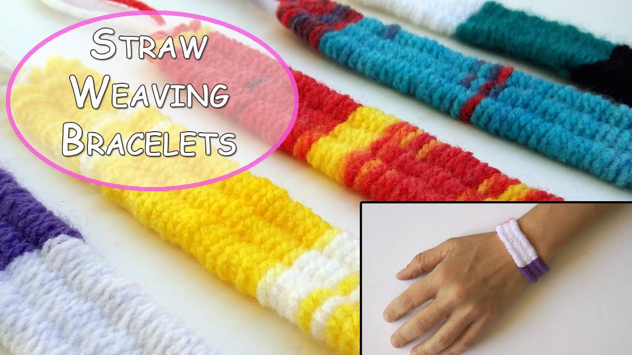 Straw Weaving Wool Bracelets Ana Diy Crafts Youtube