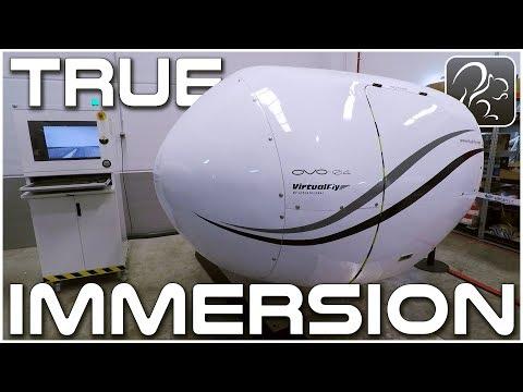 True Immersion - Fully Enclosed Flight Simulation (Virtual Fly Trip #4)
