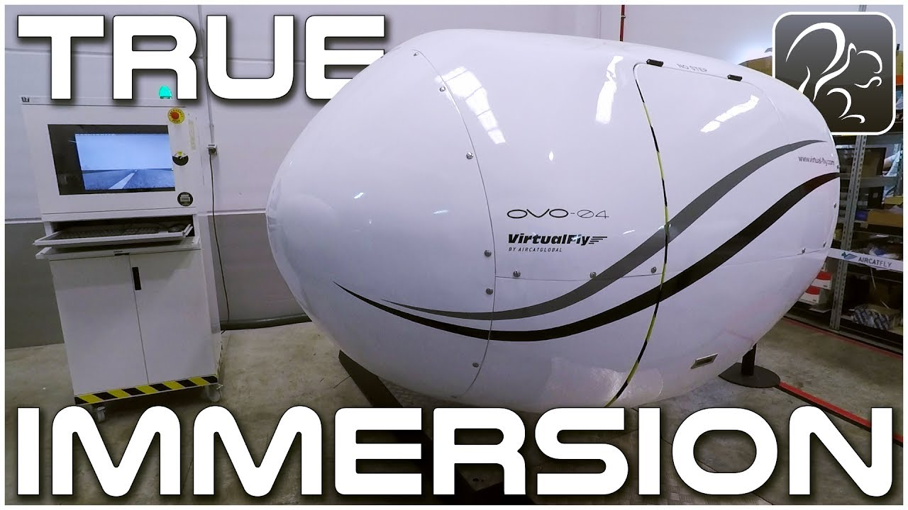 True Immersion - Fully Enclosed Flight Simulation (Virtual Fly Trip #4)