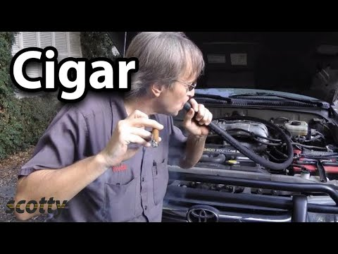 How to Find Vacuum Leak in Your Car using a Cigar | Scotty Kilmer