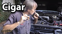 How to Find Vacuum Leak in Your Car using a Cigar   Scotty Kilmer