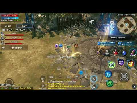 Lineage 2 Revolution - Open Fortress Siege - Hawkeye to Temple Knight dirty imprint