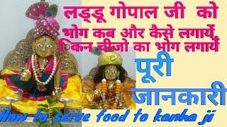 लड्डू गोपाल जी को भोग कब आैर कैसे लगायें,how to serve food to kanha ji-complete information