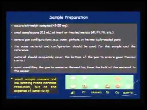 Mod-01 Lec-18 Applications of Thermal analysis techniques