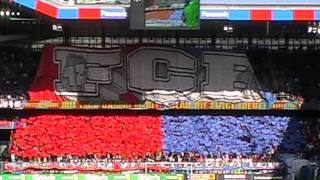 Fc Bale vs Fc Zurich Tifos ecran vestiaires 2011-2012