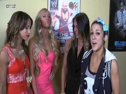 Charlotte - Bayley - Summer - Sasha backstage 11/6/2013