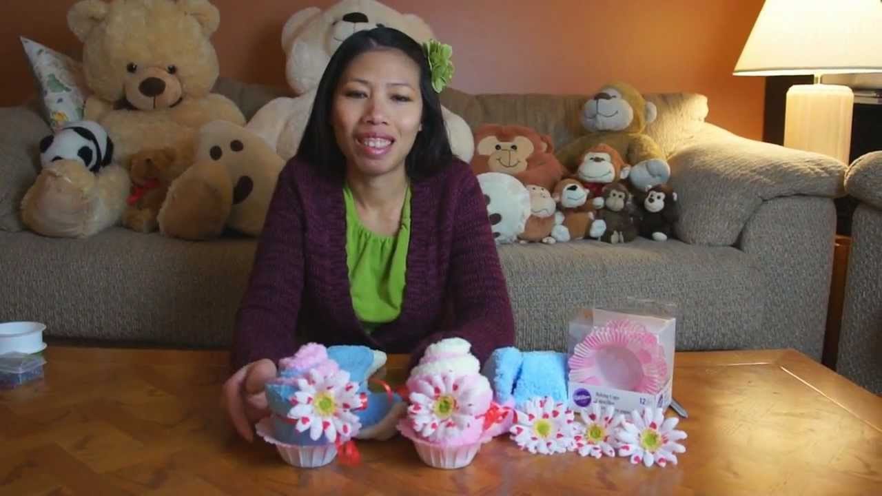 Fluffy sock cupcakes gift idea youtube negle Choice Image