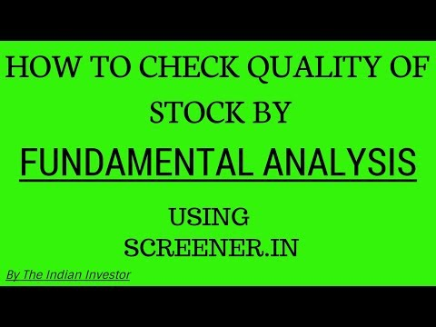 Fundamental Analysis-How To Check Quality Of Stock