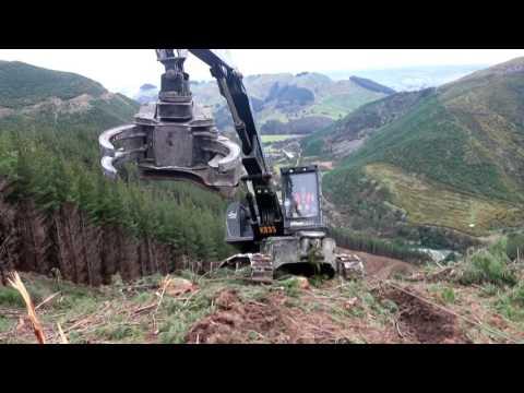 ClimbMAX steep slope forestry harvester