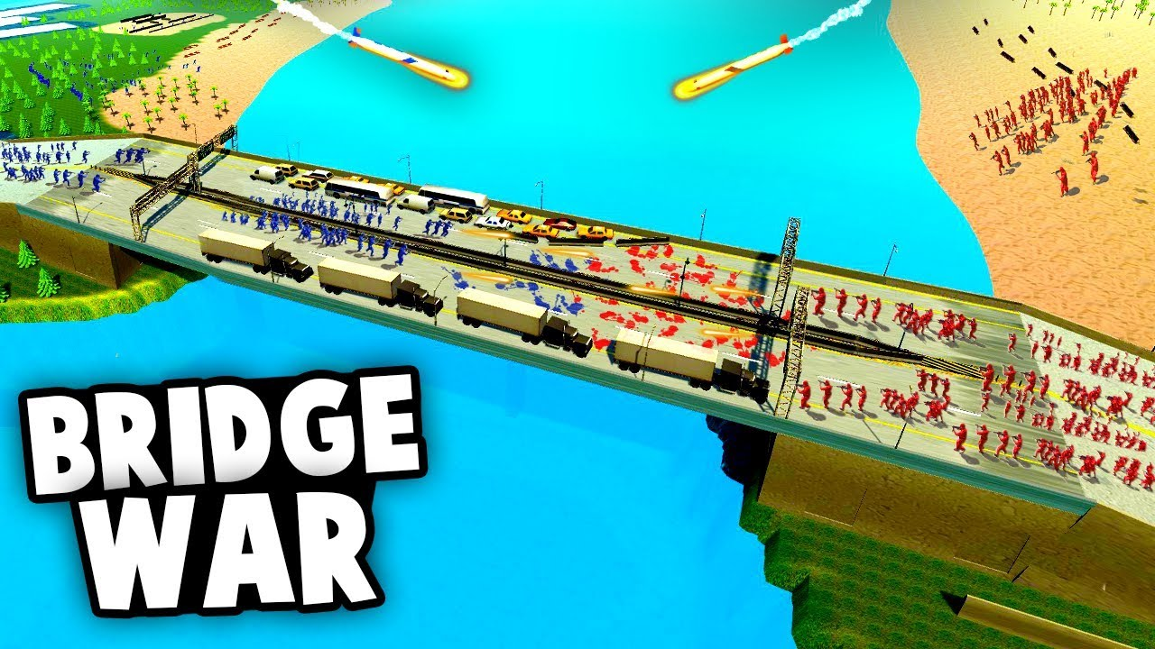 Massive Bridge Battle Challenge! Can We Reach The Other Side