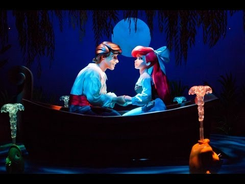 The LITTLE MERMAID, Ariel's Undersea Adventure (FULL RIDE) Disneyland California Adventure POV 1080p
