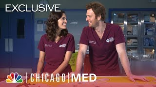 Nick Gehlfuss and Torrey DeVitto Play a Trivia Surgery Game - Chicago Med (Digital Exclusive)