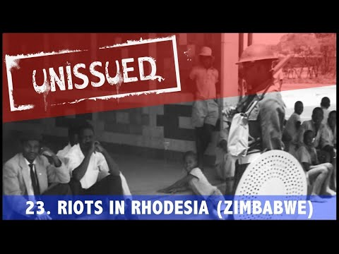 Unissued Nº23 - Riots in Rhodesia / Zimbabwe (1960)