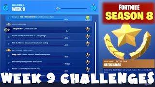 ALL Week 9 Challenges Guide - Fortnite Battle Royale Season 8