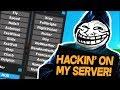 HACKING ON MY SERVER! TESTING MY NEW STAFF! (Minecraft Trolling)