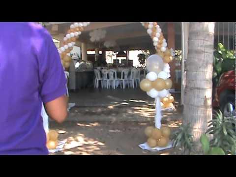 Decoracion de boda en dorado y blanco youtube - Decoracion en blanco ...