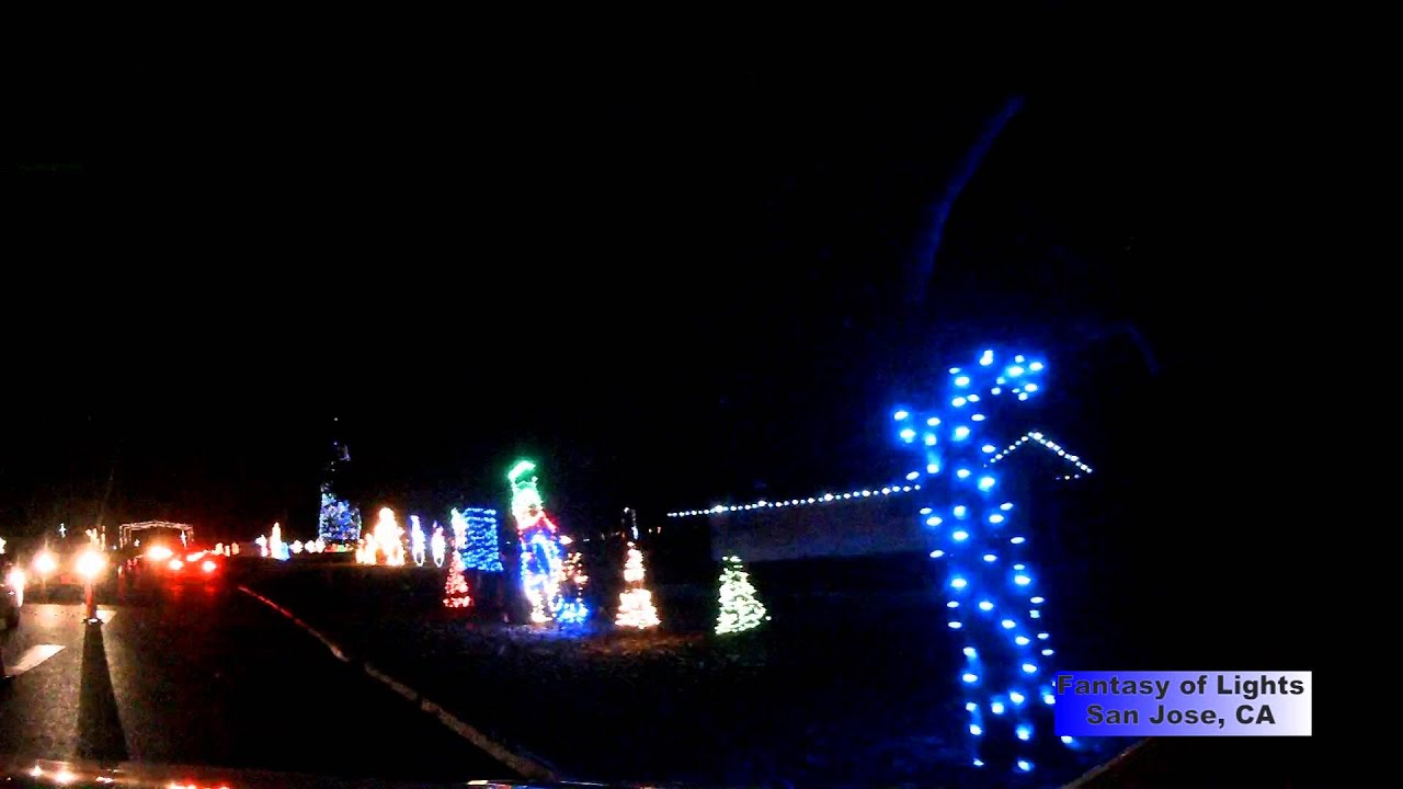 Fantasy of Lights at Vasona Park, Los Gatos, CA, December 2013 - YouTube