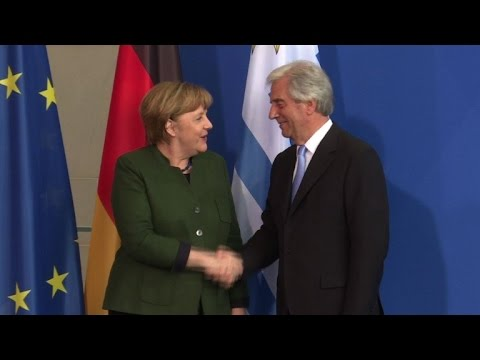 Merkel and Vazquez hope to advance EU-Mercosur talks