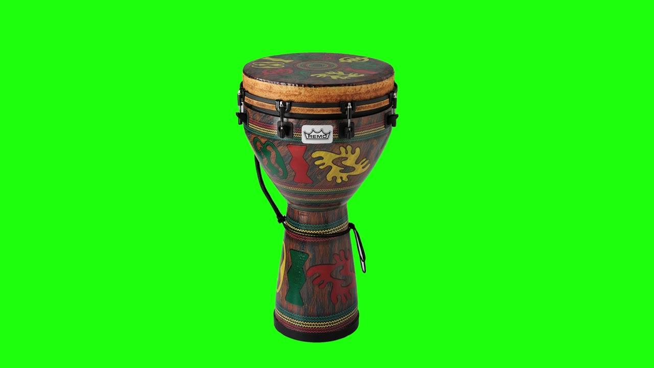 Green Screen Footage  African Drum Lijiang Tabla  Free To Use Freestock Footage