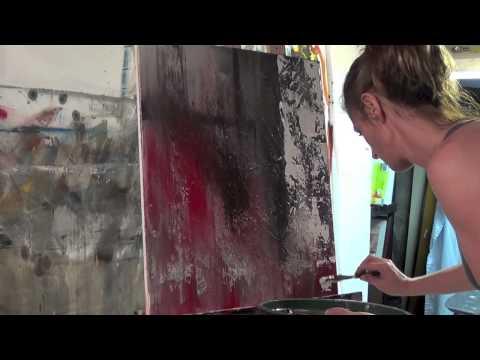 Abstract Art Painting Demo - Original by Shari Kreller - Central Park