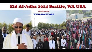 Ciid Wanaagsan Video: Eid Al-Adha Oct 4, 2014 Seattle, WA USA.