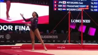 Downie Elissa. Вольные упражнения. Чемпионат мира 2015 Глазго.