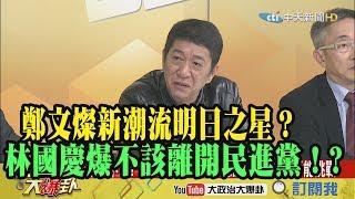 【精彩】鄭文燦新潮流明日之星?  林國慶爆「安捏不該離開民進黨」!?