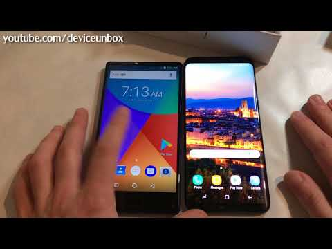 Samsung S8 vs Ulefone MIX [ Display compare ]