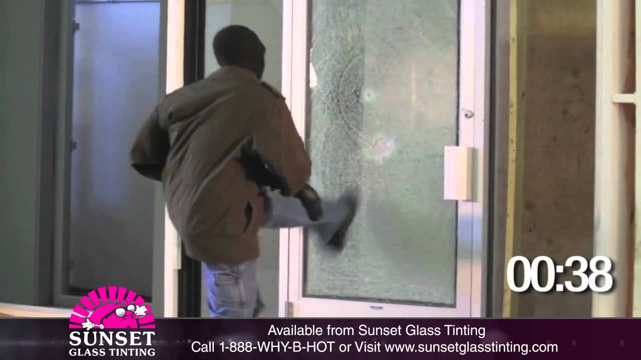 3m Security Film 14mil Sunset Glass Youtube