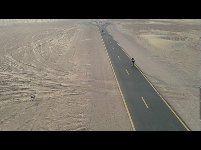 Diane Gordon, beautiful ride through Al Qudra Desert