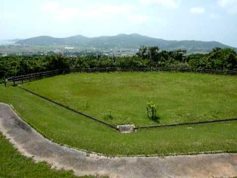 登武那覇城跡からの景色。