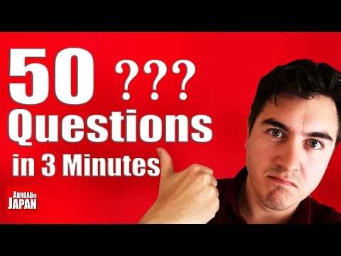 Answering 50 Questions in 3 Minutes | About Me